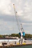 Crane in a port Stock Photo