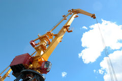 Crane in port Royalty Free Stock Images