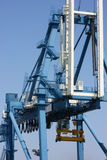 Crane in the port Stock Images