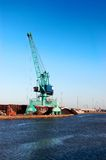 Crane in port Stock Image