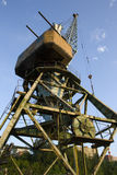 The crane at the port. Royalty Free Stock Images