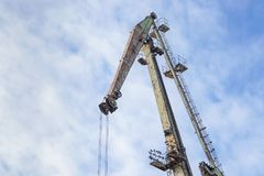 Crane on port. With blue sky in background Stock Photography
