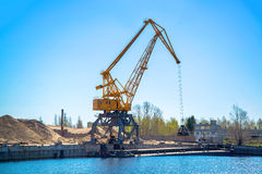 Crane in port Royalty Free Stock Image