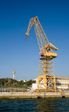 Crane in the port Royalty Free Stock Image
