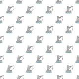 Crane port pattern seamless Stock Images