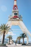 Crane in Porto Montenegro in Tivat royalty free stock image