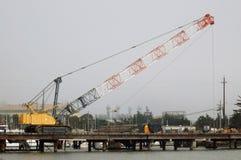 crane przemysłowe Obrazy Royalty Free