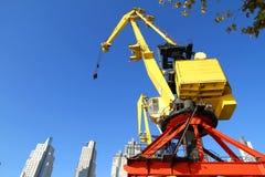 Crane in Puerto Madero Stock Image