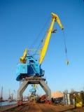 Crane on a rails Stock Image