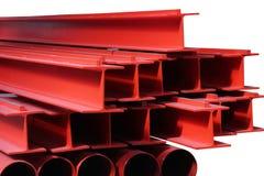 Crane rails. Close-up large metal crane rails Stock Images
