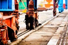 Crane on railwaytracks Royalty Free Stock Photo