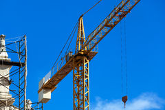 Crane on the reconstruction Royalty Free Stock Image