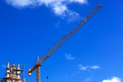 Crane on reconstruction Stock Photo
