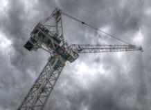 crane red tower Arkivfoto