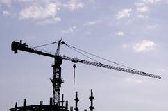 crane red tower Royaltyfri Fotografi