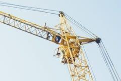 crane red tower Arkivbilder