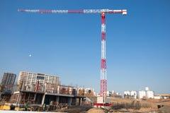 crane red tower Royaltyfria Bilder
