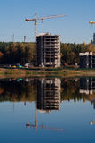 Crane reflection Royalty Free Stock Photos