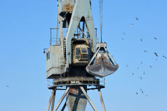 Crane for reloading Royalty Free Stock Photo