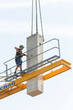 Crane removal worker Stock Image