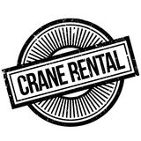 Crane Rental rubber stamp Royalty Free Stock Images