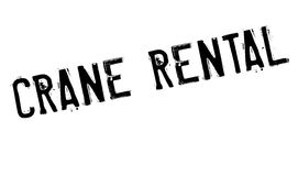 Crane Rental rubber stamp Royalty Free Stock Photography