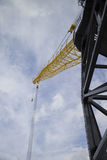 Crane resting on saturday afternoon Stock Photography