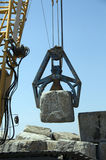 Crane with rocks Royalty Free Stock Photo