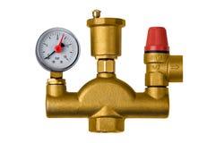 Crane safety valve boiler pressure Stock Photos