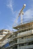 Crane and scaffolding Royalty Free Stock Photos