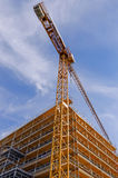Crane and scaffolds Stock Photography