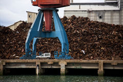 Crane and scrap Stock Photography
