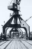 Crane and scrap metal Royalty Free Stock Image