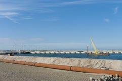 Crane on sea Stock Image
