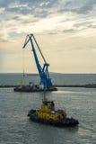 Crane at sea Royalty Free Stock Photos