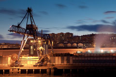 Crane in Sestao Royalty Free Stock Photography
