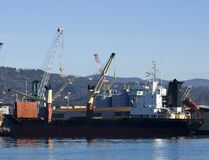 Crane and ship Stock Images