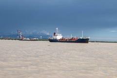 Crane Ship Royalty-vrije Stock Afbeeldingen