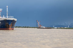 Crane Ship Fotografía de archivo libre de regalías