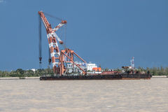 Crane Ship Fotografía de archivo