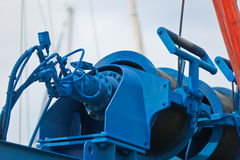 Crane for a ship maintenance detail Stock Photo