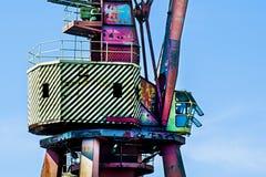 Crane in the shipyard royalty free stock photo