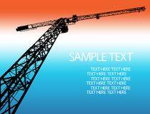 Crane silhouett. Vector illustration background Royalty Free Stock Photos
