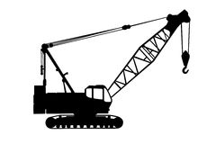 Crane silhouette Royalty Free Stock Images