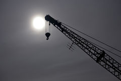 Crane silhouette Stock Photography