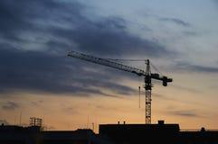 Crane Silhouette Imagen de archivo libre de regalías