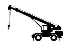 Crane Silhouette auf einem weißen Hintergrund Stockfotografie
