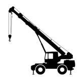 Crane Silhouette en un fondo blanco Fotografía de archivo