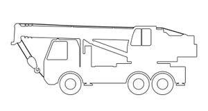Crane Silhouette sur un fond blanc Photographie stock