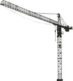 Crane. Silhouette on a white background Stock Photo